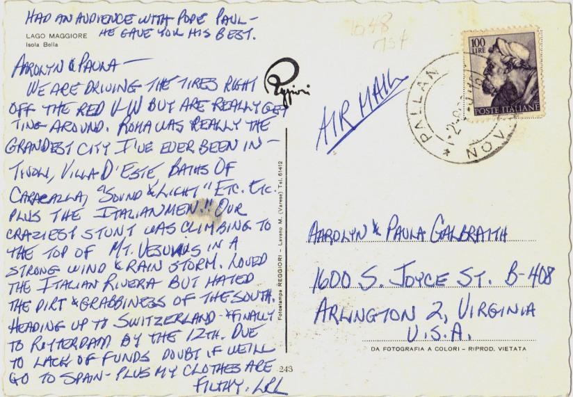 Italy 1980s Postcard
