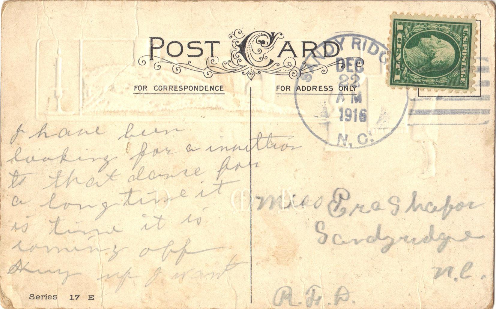 N.C. Christmas 1916B