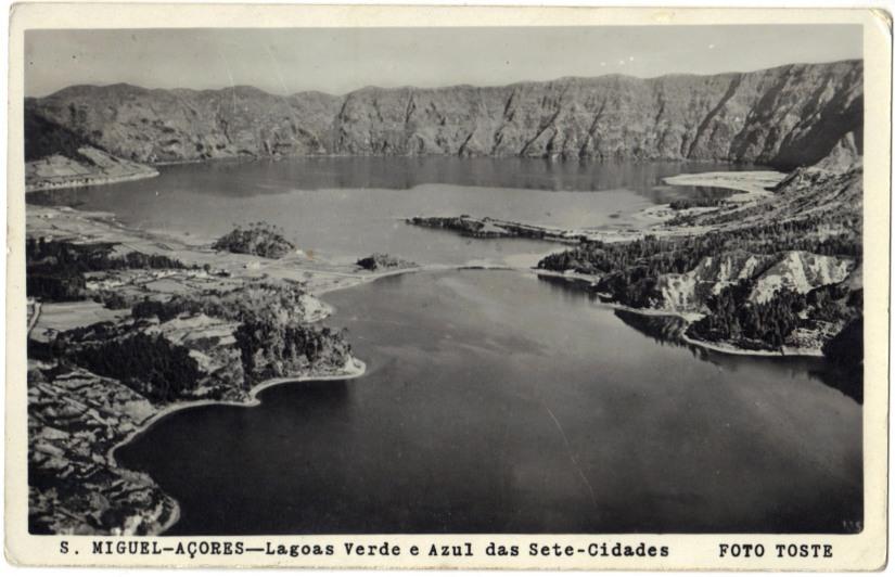 Azores 1953 Vintage Postcard