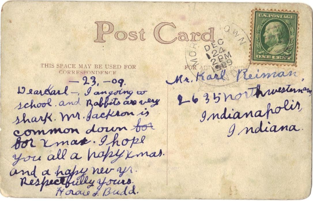 Indiana 1909 back