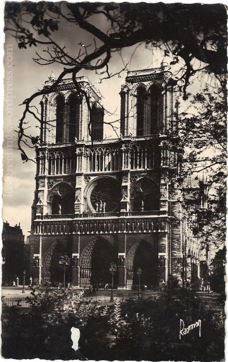1950 Paris Notre Dame Image lg