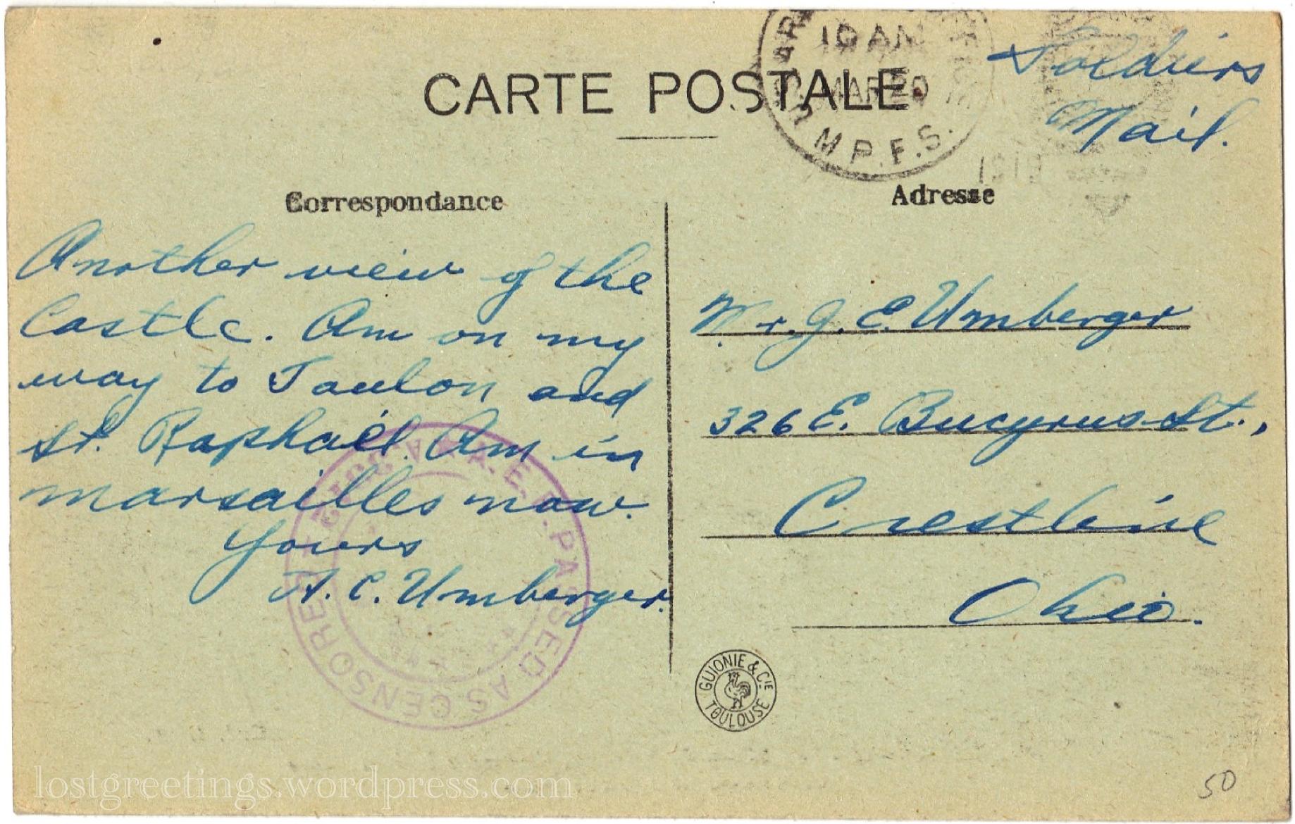 Great War Postcard Mar 1919 lg