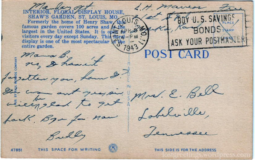 Marress - 1943 St Louis message lg