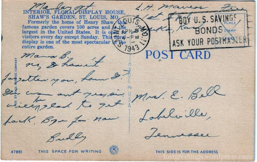 Marress - 1943 St Louis message lg