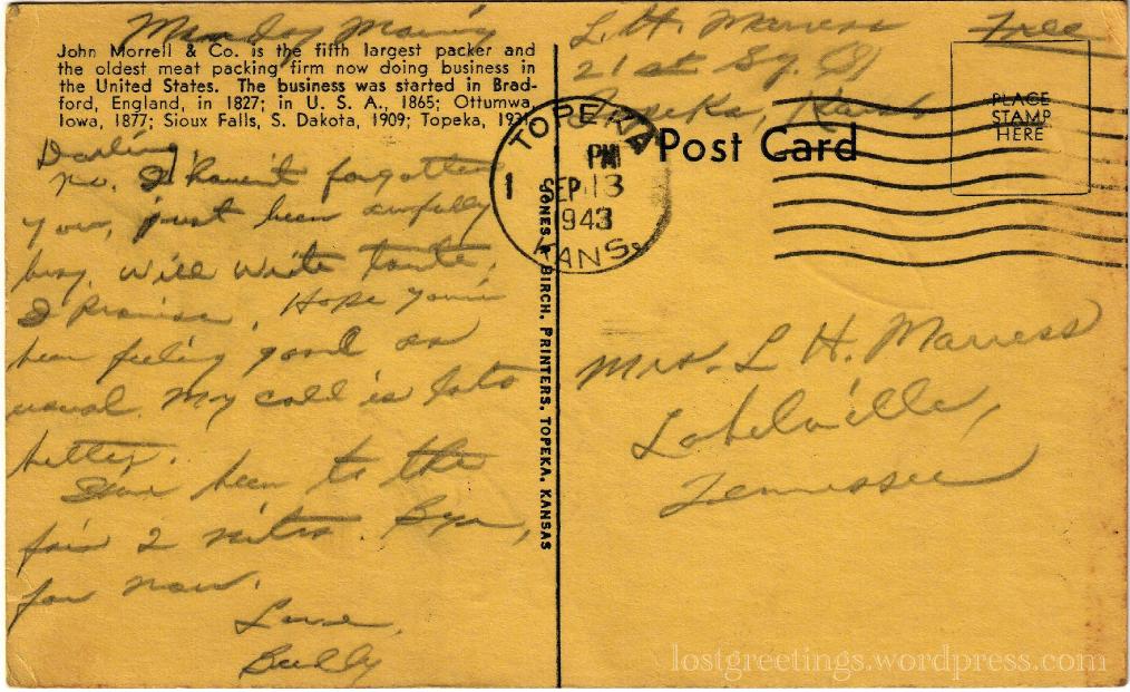 Marress - Sept 1943 Topeka message lg