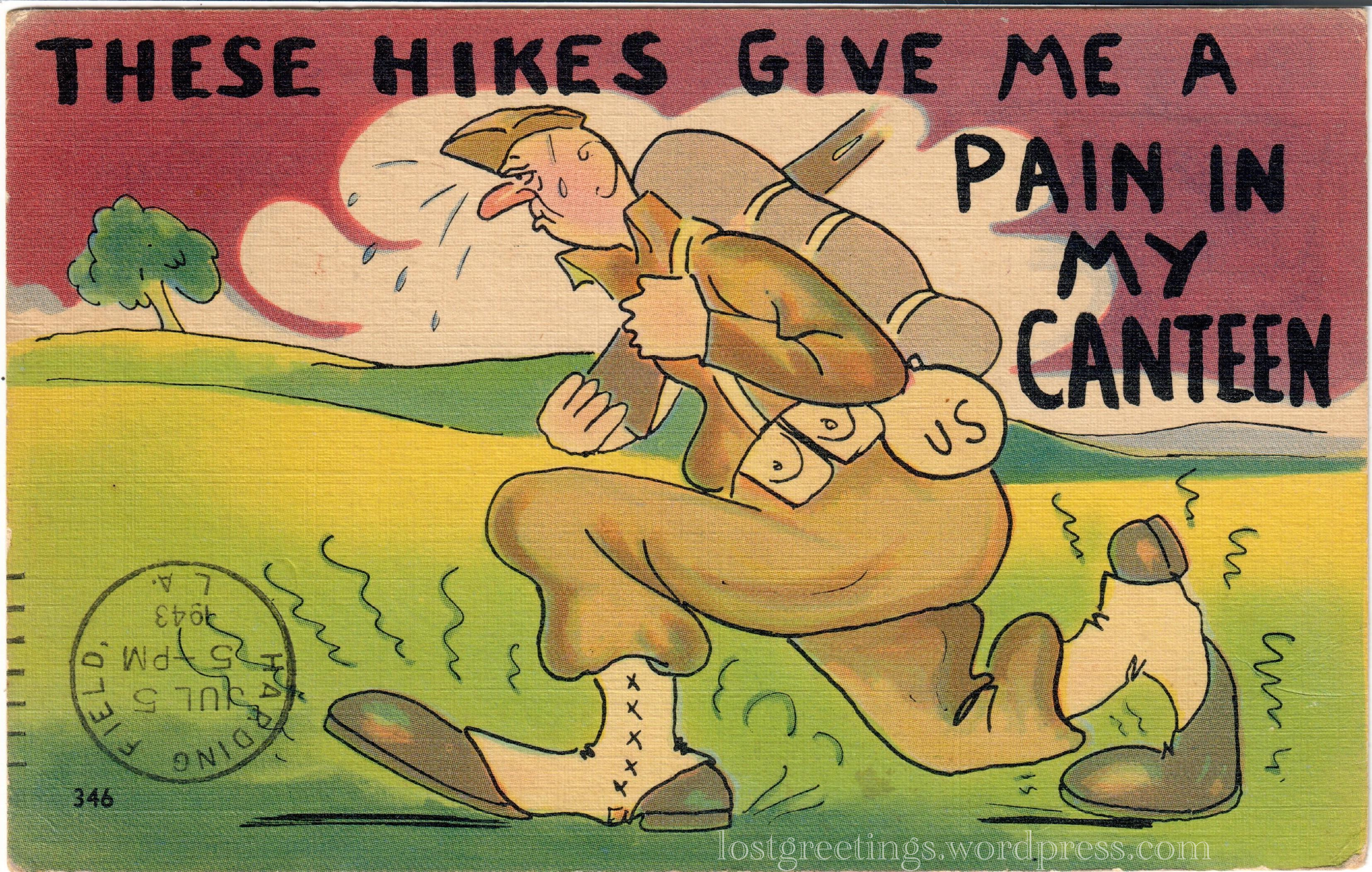 1943 Postcard Image - Camp Stewart Georgia lg