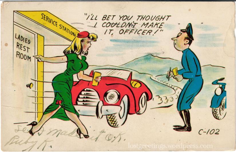 1953 Comic Postcard Image - Cheyenne, Wyoming lg