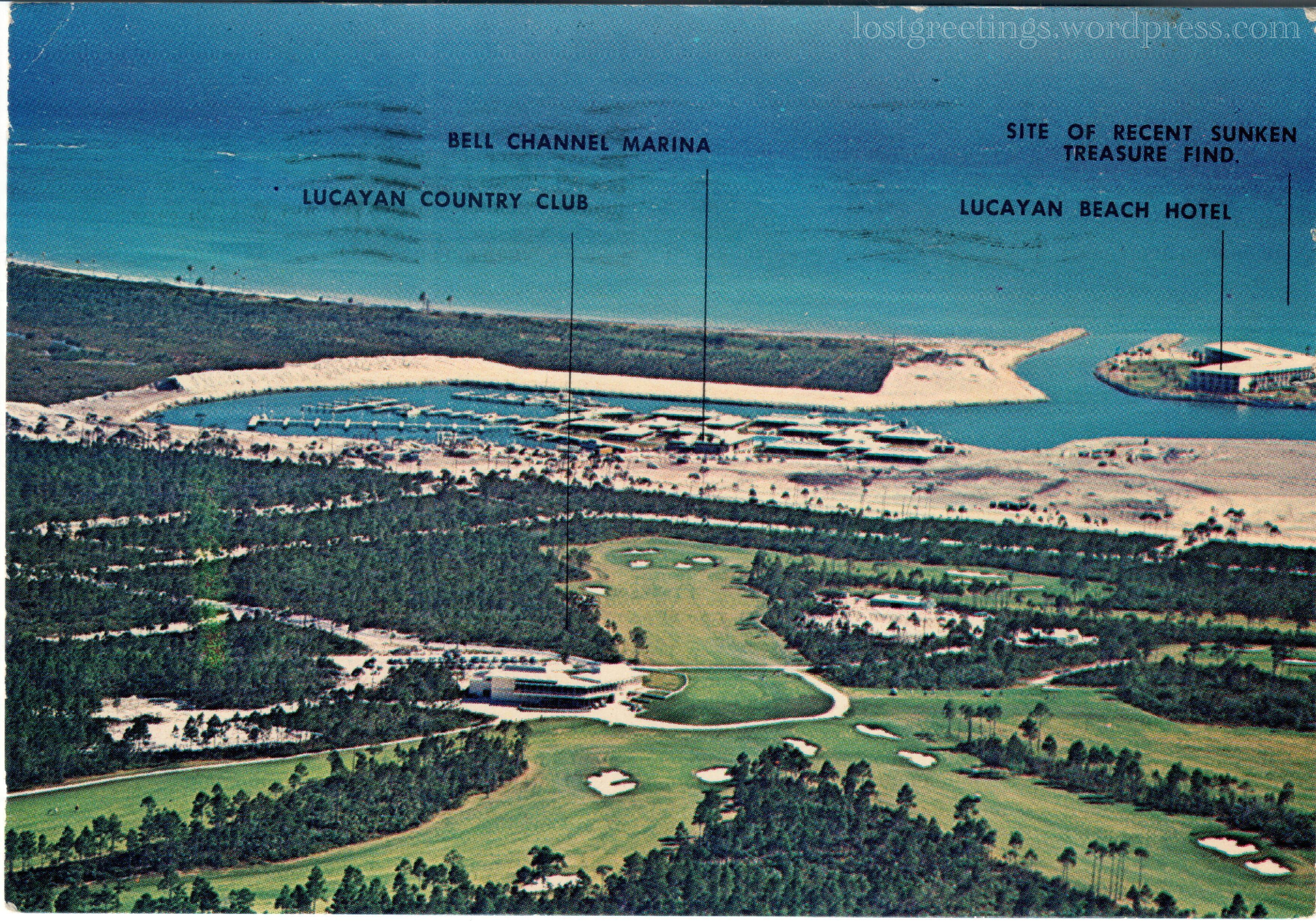 1967 Travel Postcard Image - Freeport, Bahamas lg