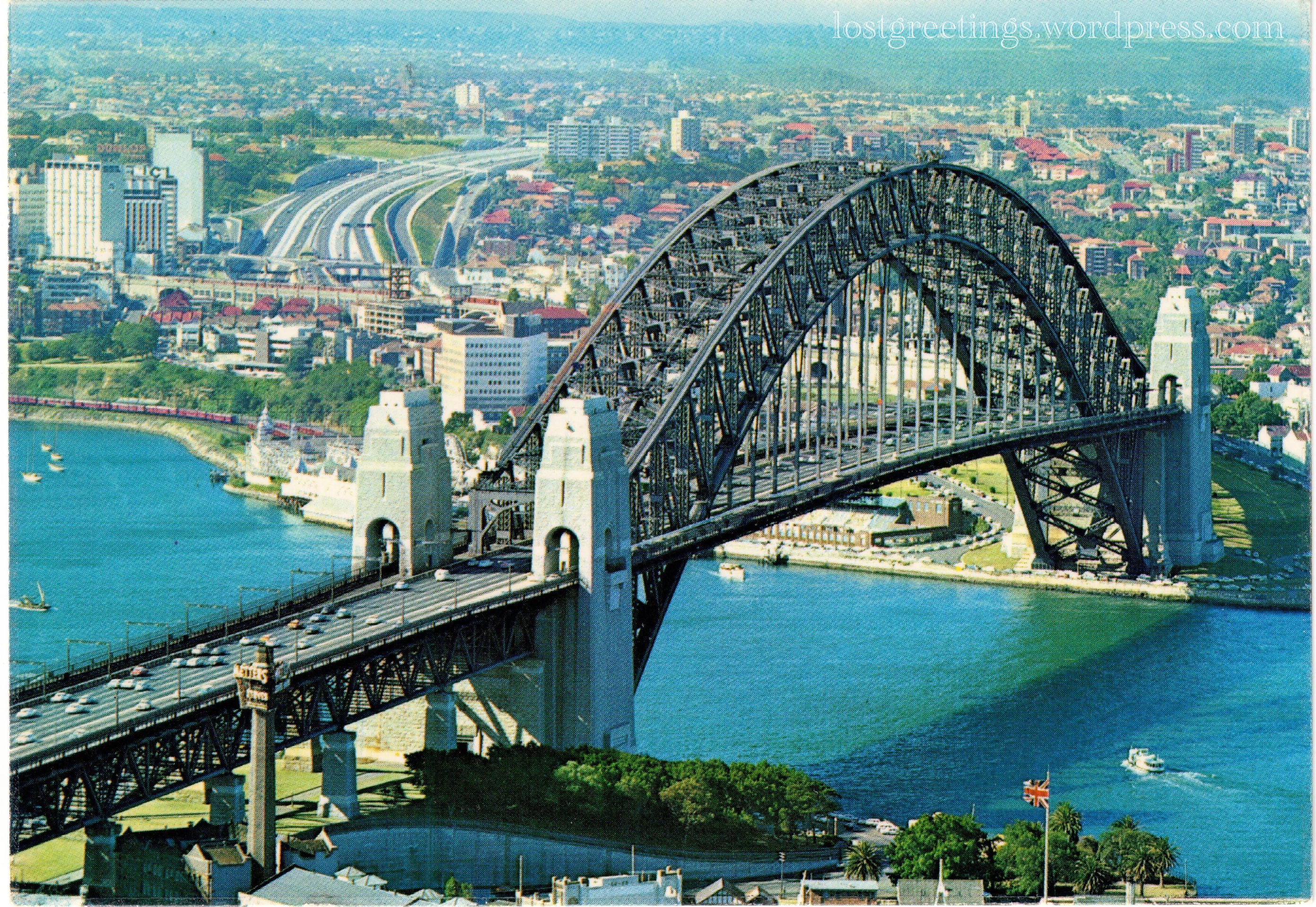 1971 Travel Postcard Image - Sydney, Australia lg