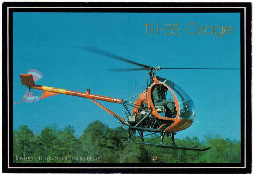 1984 Dothan, Alabama postcard image helicopter lg