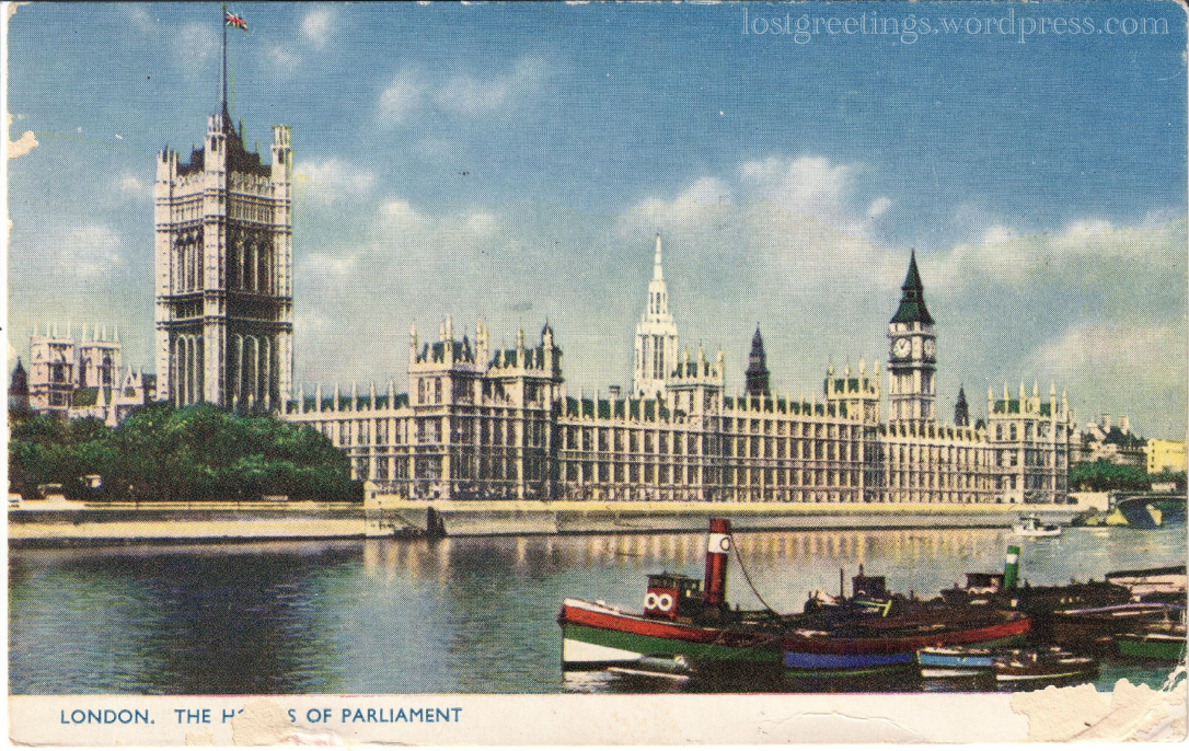 1954 U.S. Army Air Force Postcard - London Image lg