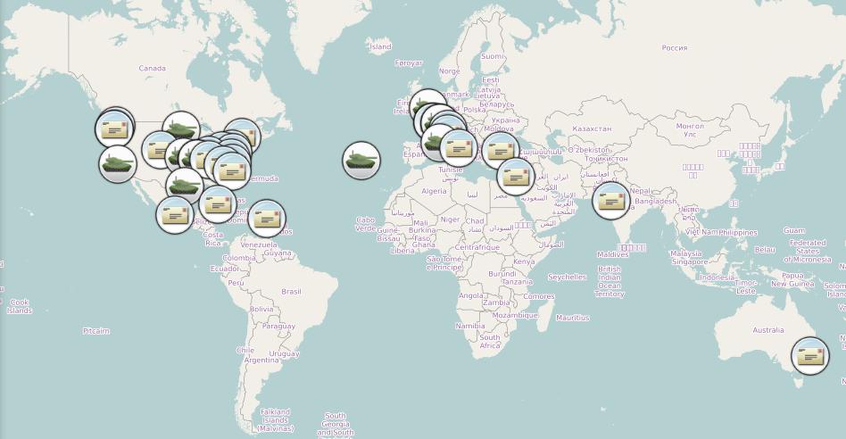 LostGreetings Map Image
