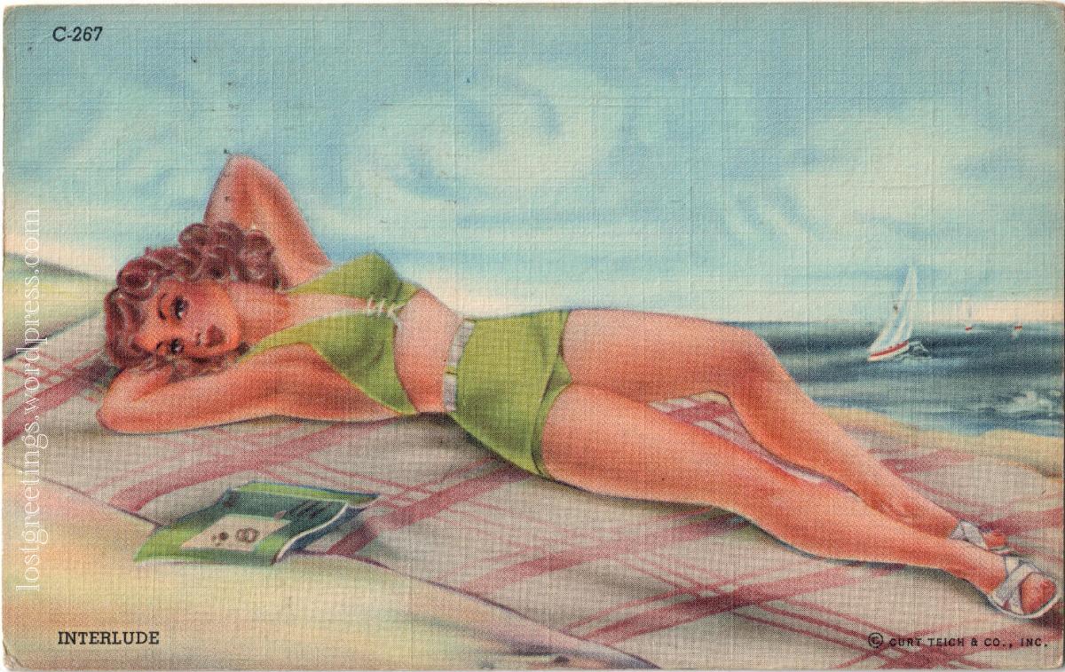 Fort Myers, FL 1943 postcard image V.Andrews lg