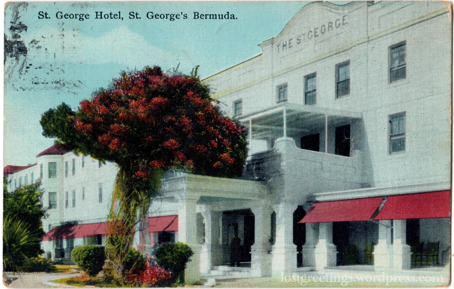 St George's, Bermuda APO 802 - 1941 Postcard lg
