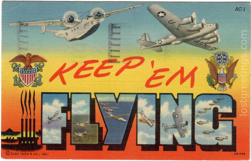 Atlantic City, NY 1945 Keep 'em Flying Air Corps Image lg